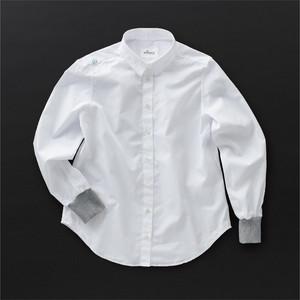 レディス 2wayシャツ 白×灰