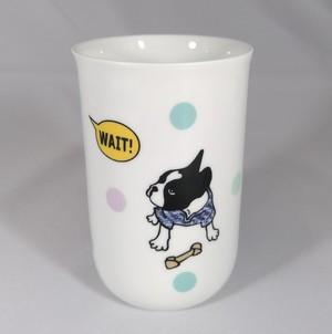 フレンチブルドッグ WAIT! BUHI ロングミルクカップ