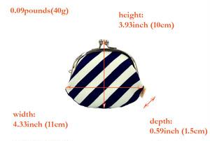 帆布×インクジェットプリント・3.3寸小銭入れ・ストライプ・日本製