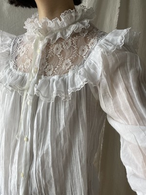 France Lace-trimmed top