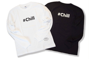 word logo long sleeve / #Chill