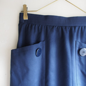 vintage givenchy  navy skirt