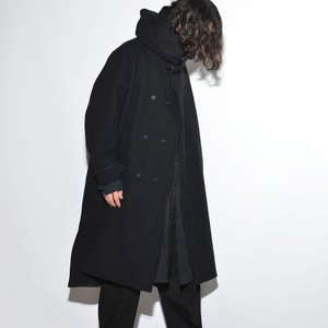 "All Matching - Wool Coat ""Hoodie"" 〈Black〉"