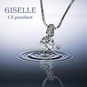 送料無料! ジュエリーの仕上がり!人気のベネチアチェーン CZダイヤモンドペンダント 「フィレンツェ」