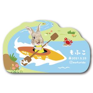 ペット名刺_型抜きタイプ_カヤックデザイン(1個50枚)_cut_w010-r