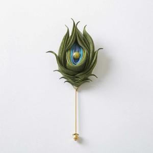 【Kiu kujaku】Lapel pins【祈雨孔雀】ラペルピン