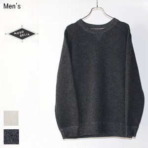 MOSODELIA 接結ニットクルー QUARTER KNIT 17AW-C-002 (CHARCOAL)