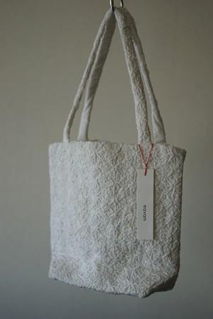 eavamの刺繍バッグ:マリ/白(S) yeb:mali/white(S)