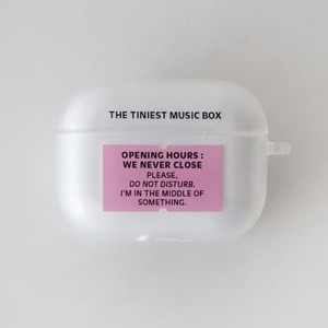 【t.e.a】Music box / airpods pro エアポッズ エアーポッズ プロ ケース カバー 韓国雑貨