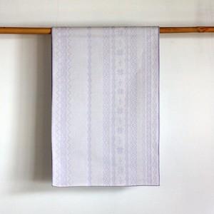 上質な綿麻素材の大人へこ帯「raita(ライタ)/ スノーホワイト×ライラック」