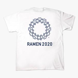 雷文2020(バックプリント)白Tシャツ