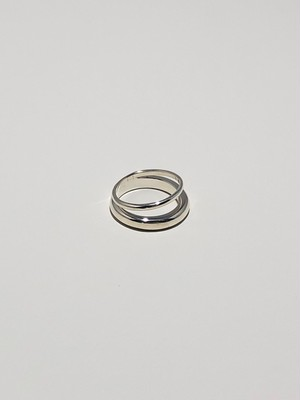 double ring silver(再入荷)