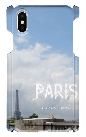 スマートフォンケース iPhonX対応  世界の景色 Paris エッフェル塔