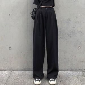 【ボトムス】ファッション無地レギュラー丈 カジュアルパンツ25523089