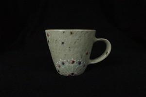 綿摘み陶房 レース紋マグカップS(ピンク)