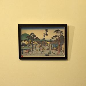 『すとり〜と百景』浮世絵額装(A4サイズ)