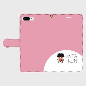 手帳型ケースiphone7Plus用 ピンク