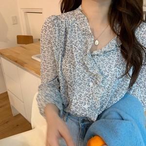 ミニレトロ花柄シャツ