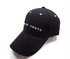 PAGE OF YOUTH 刺繍CAP[H-045 BLACK]