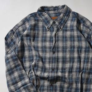 【XLサイズ】STJOHNS BAY セントジョンズベイ FLANNEL CHECK SHIRT 長袖シャツ BLUE ブルー 400602190865