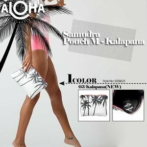 アロハコレクション 撥水ポーチ コスメポーチ レディース 新作 ギフト 白 黒 Aloha Collection Pouch Mサイズ SAMUDRA 5058023