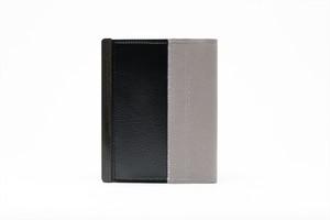 アモルフ 閉じる ブックカバー 手帳カバー A6(文庫)サイズ クラリーノ 黒 ✕ 倉敷帆布 グレイ