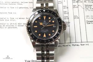 【限定】WMT WATCH  ROYAL MARINE Pumpkin Flat Links bracelet (NH35)