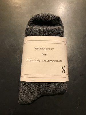 TrAnsference object dyed mid socks - imperfection black effect