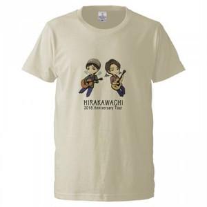 平川地キャラTシャツ(亜麻色)