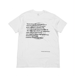 RESTORATION - 6years Anniversary T-shirt (WHITE) -