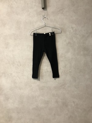 POPUPSHOP	RIB LEGGINGS SOLID  /BLACK