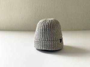 フレンチリネン×和紙糸 ニット帽 ベージュ杢