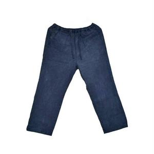 本藍染め和布パンツ すくも藍