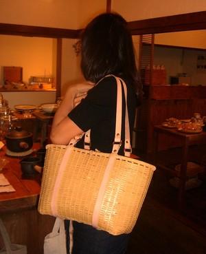 竹かごバッグ bamluxe(tote) 【受注生産品】