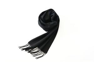カシミヤマフラー【 Pure  cashmere  muffler Black 】