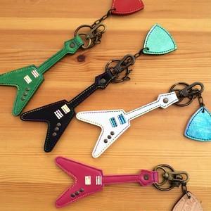 ギターキーホルダー(フライングV)