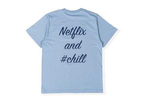 【NFLX logo T-shirt】/ dusty blue