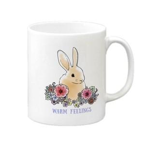 花とうさぎ マグカップ