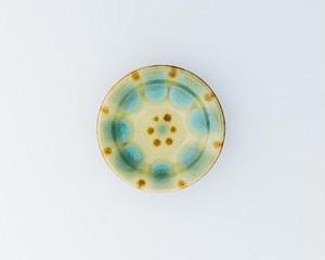 小皿(緑釉)ノモ陶器