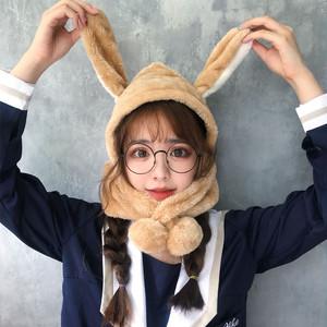 【ファッション小物】ファッション秋冬動物柄可愛い韓国風マフラー/スカーフ帽子