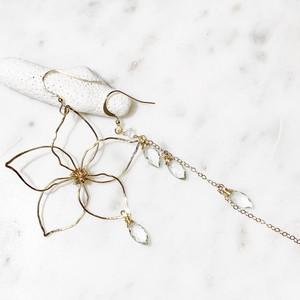 plumeria earrings