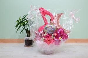 結婚式やお誕生日のお祝いに卓上バルーンギフトU(バルーンアレンジ) 送料込み 引き取りの場合4,500円