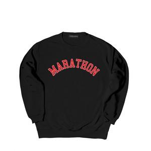 COLLEGE LOGO CREW SWEAT M381104- BLACK / クルー スウェット シャツ  MARATHON JACKSON マラソン ジャクソン
