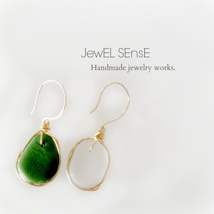 Seaglass jewelry pierce