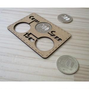 500円玉専用のカード型コインホルダー コインカード「1500」