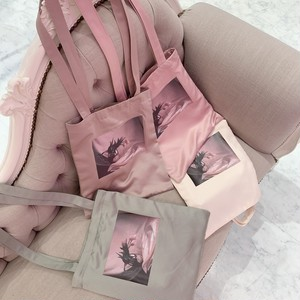 tulip satin tote bag
