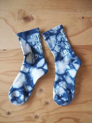 "MY LOADS ARE LIGHT, ""TEXT : INDIGO DYE"""