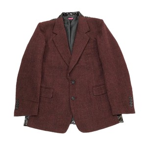 JERRY PINK CHECK / ENAMEL SWITCH JACKET BORDEAUX / BLACK