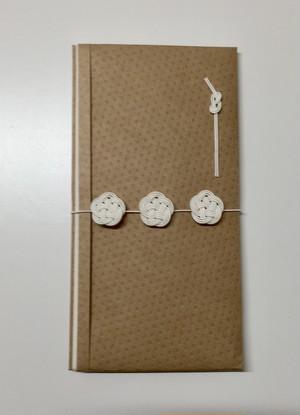 祝儀袋(並び梅)クラフトドット 白