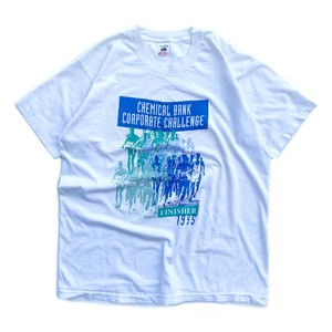 USED 95's CHEMICAL BANK CORPORATE CHALENGE tee - white